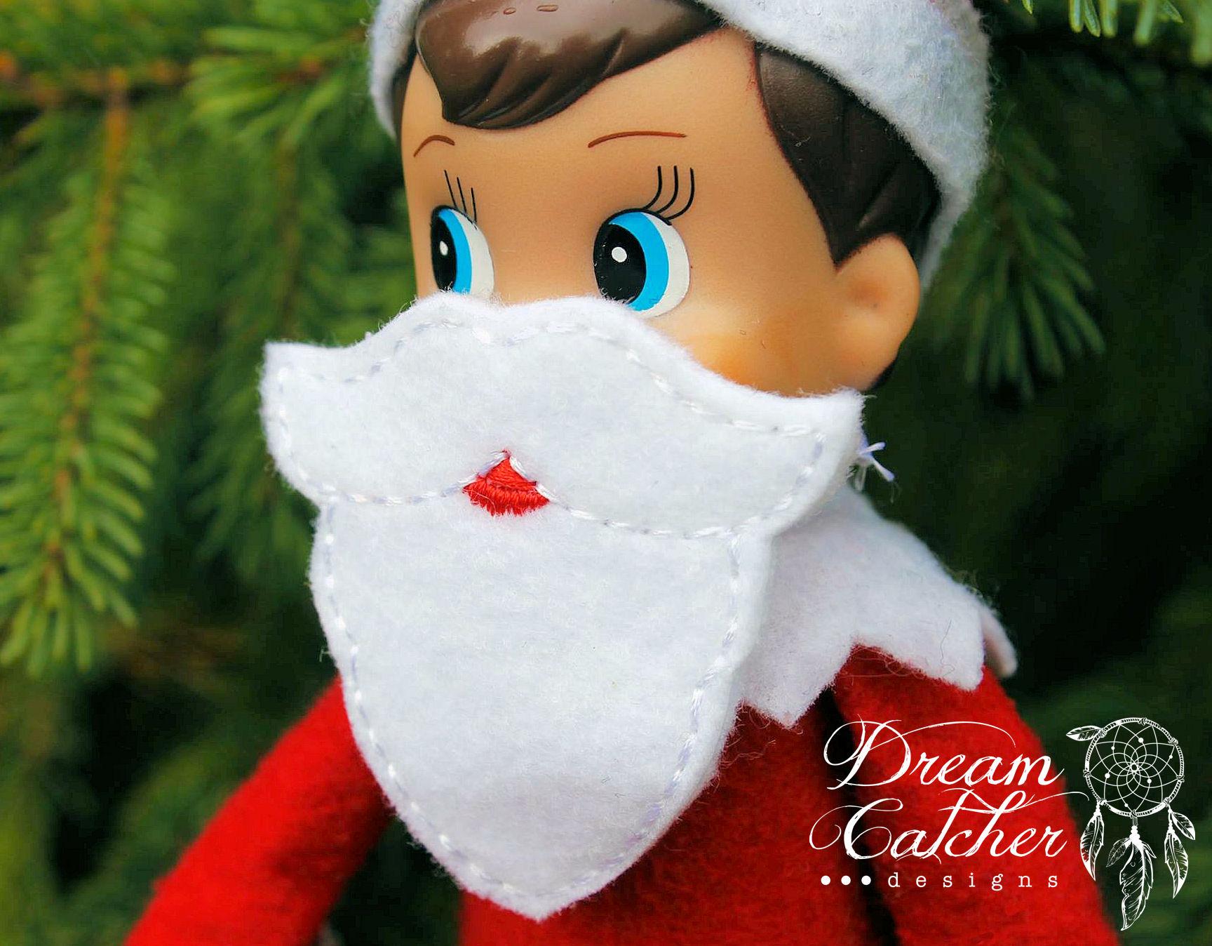 In The Hoop Elf Santa Face Lumberjack Pirate Beard Mask Elfdoll