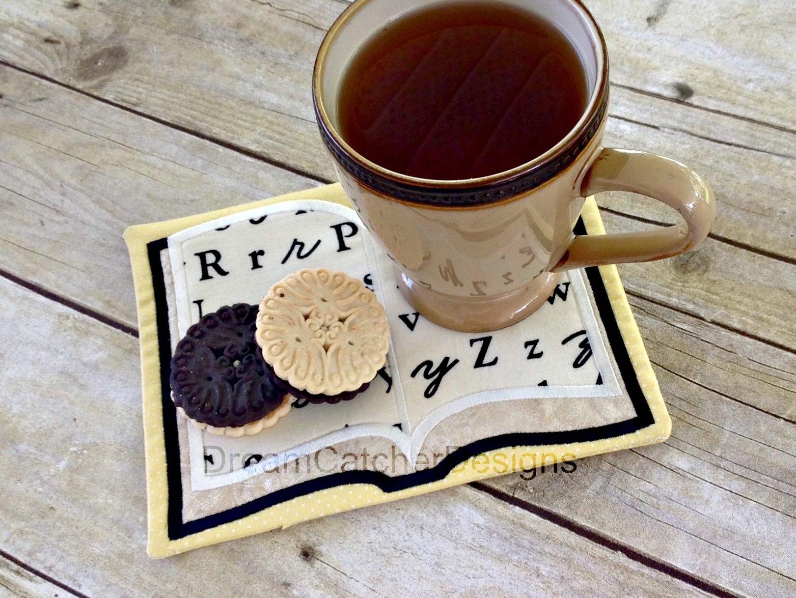 In The Hoop Book Mug Rug Embroidery Design The Creative Frenzy