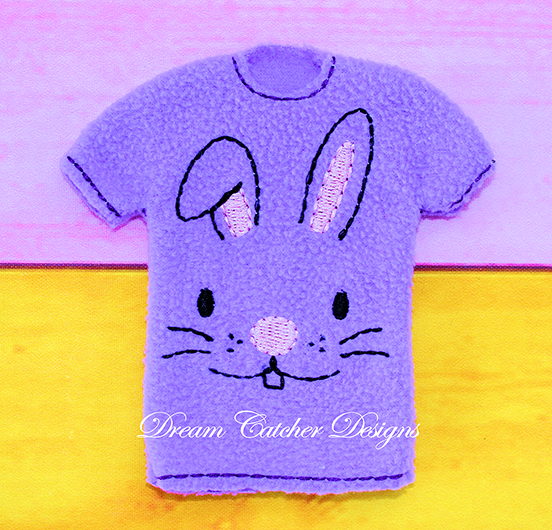e8d80894190813 In The Hoop Bunny Rabbit Easter Holiday Sweater AND Shirt Elf Doll  Christmas Feltie Embroidery Design