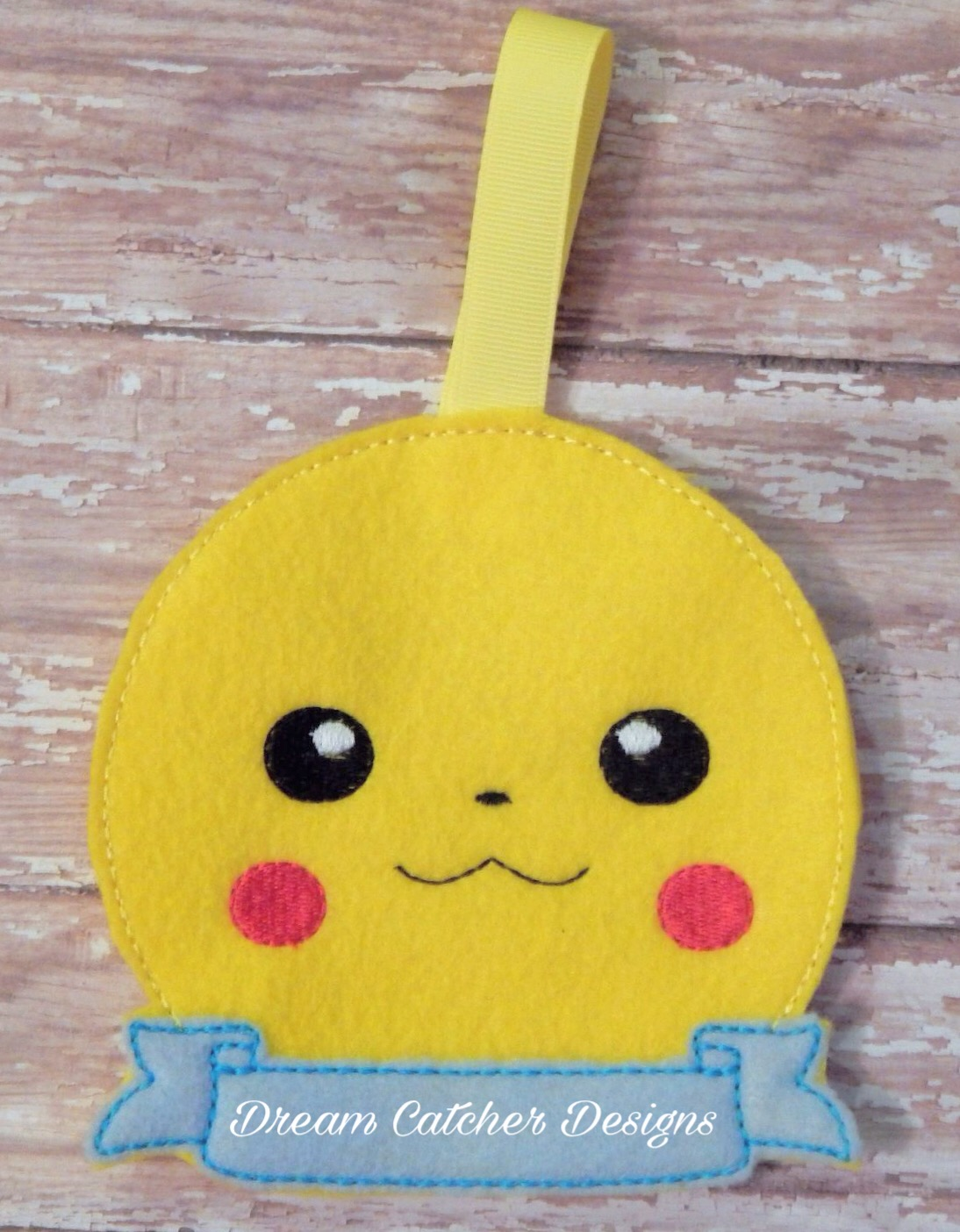 Pikachu Christmas Ornament.In The Hoop Pikachu Felt Christmas Holiday Ornament Embroidery Design