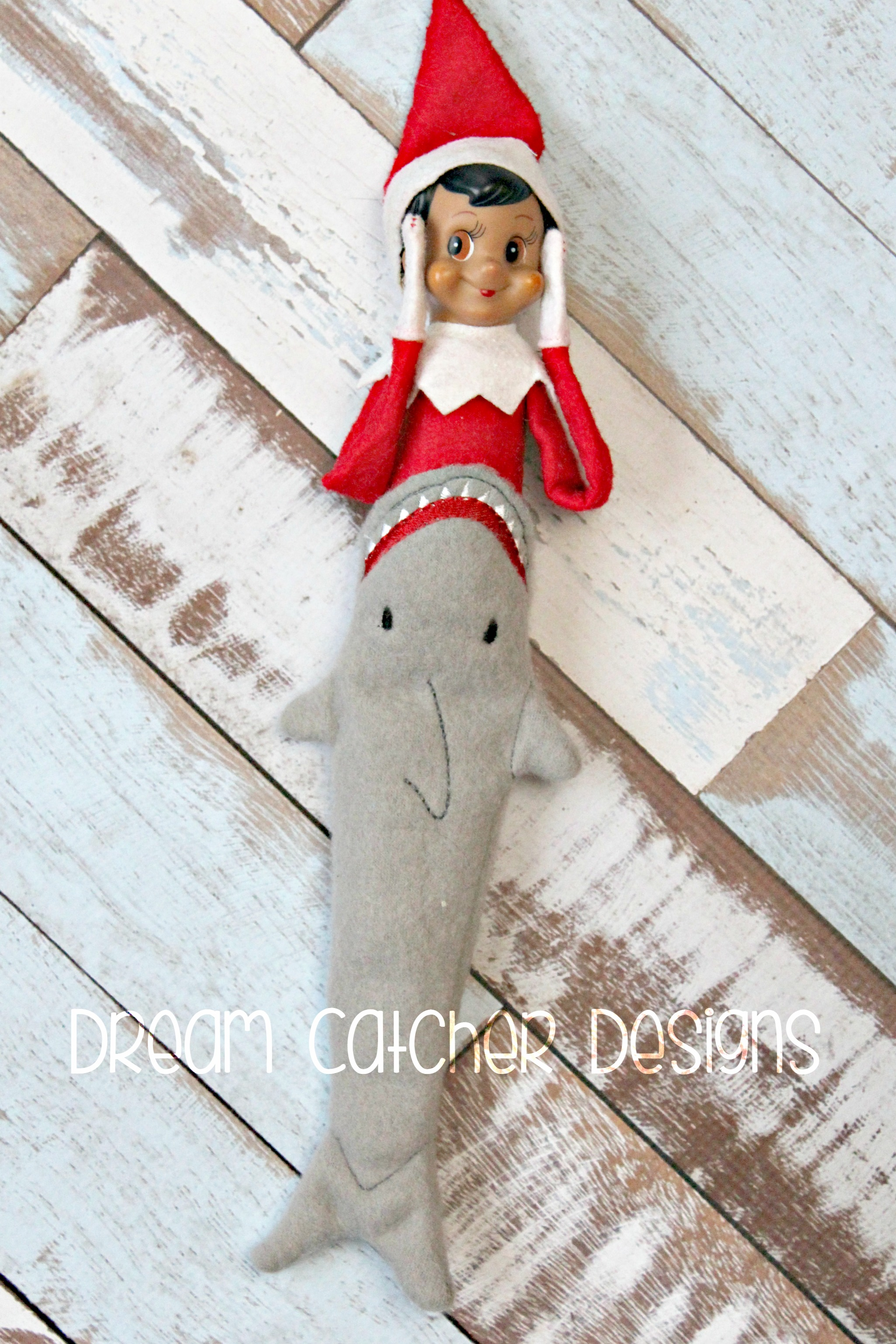 261335aa8a88c In The Hoop Shark Tail Elf Doll Christmas Embroidery Design – The ...